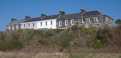 The doleritic sill at the Lammerlaws gives these houses a commanding view over the surrounding area