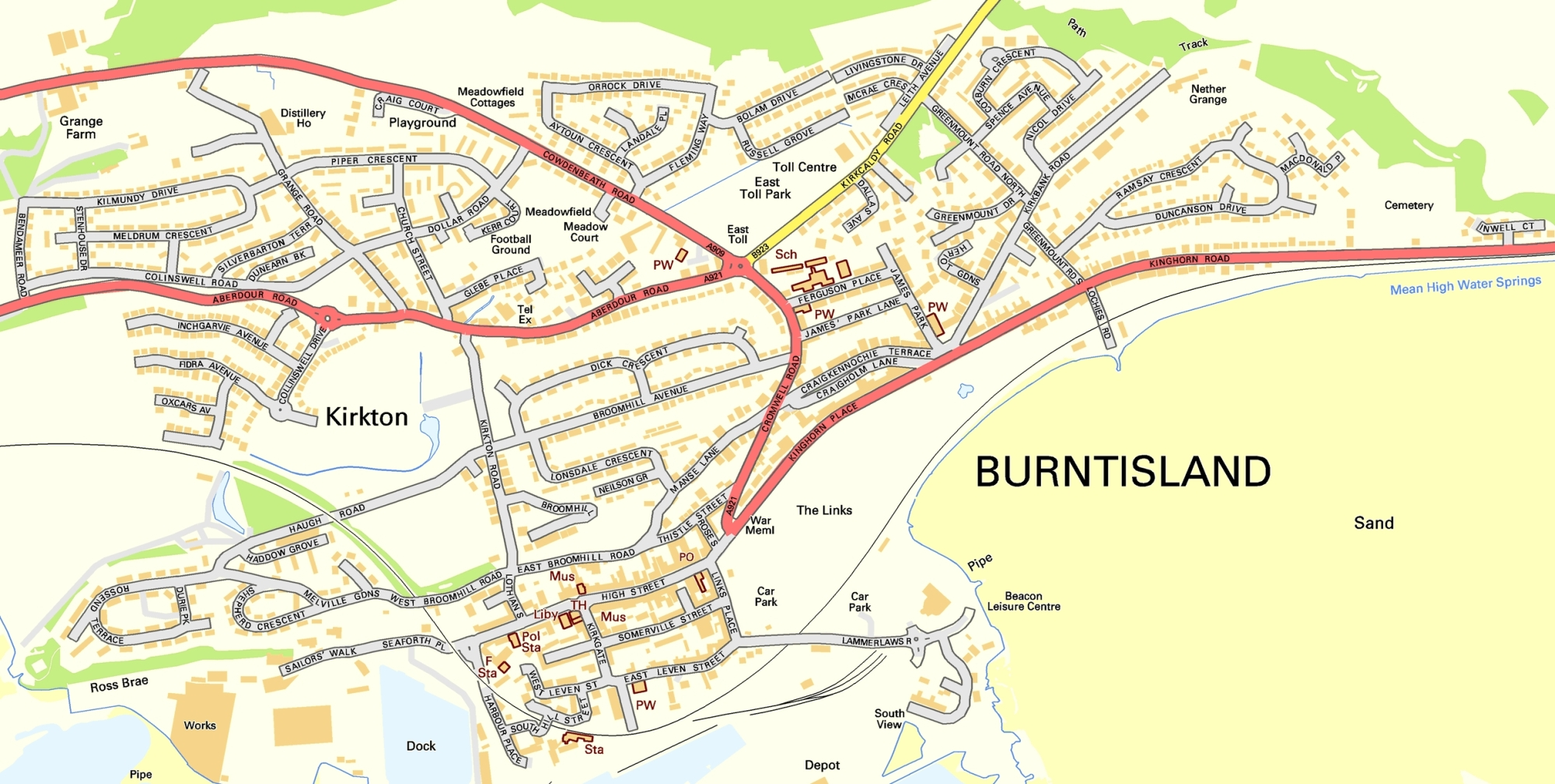 Burntisland streets (large scale)