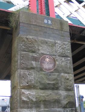 The plaque in situ