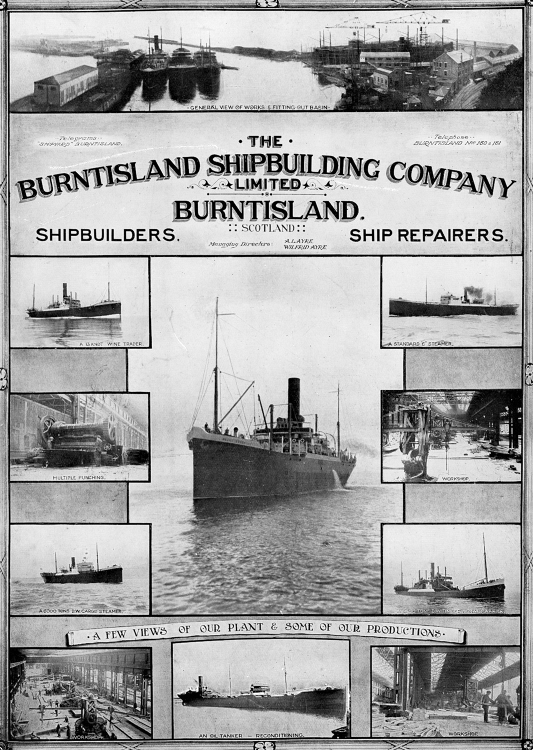 Shipyard advertisement from 1923